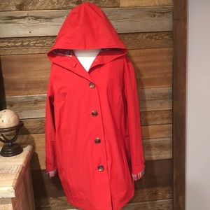 LL Bean Flannel Lined Wind/ Rain Trench Coat 1x
